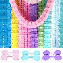 3.6M Vier Klavertje Papier Slingers Bruiloft Roze Prinses Baby Shower Thema Tissue Garland Party Leveranciers Achtergrond Opknoping