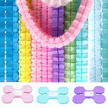 3.6m Four Leaf Clover Paper Garlands Wedding Pink Princess Baby Shower Theme Tissue Garland Party Suppliers Backdrop Hanging
