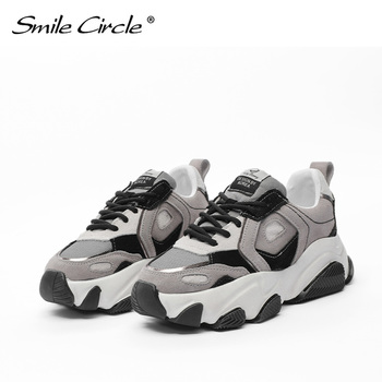 Smile Circle women's sports shoes suede lace-up flat shoes women 2020 spring summer autumn sports shoes