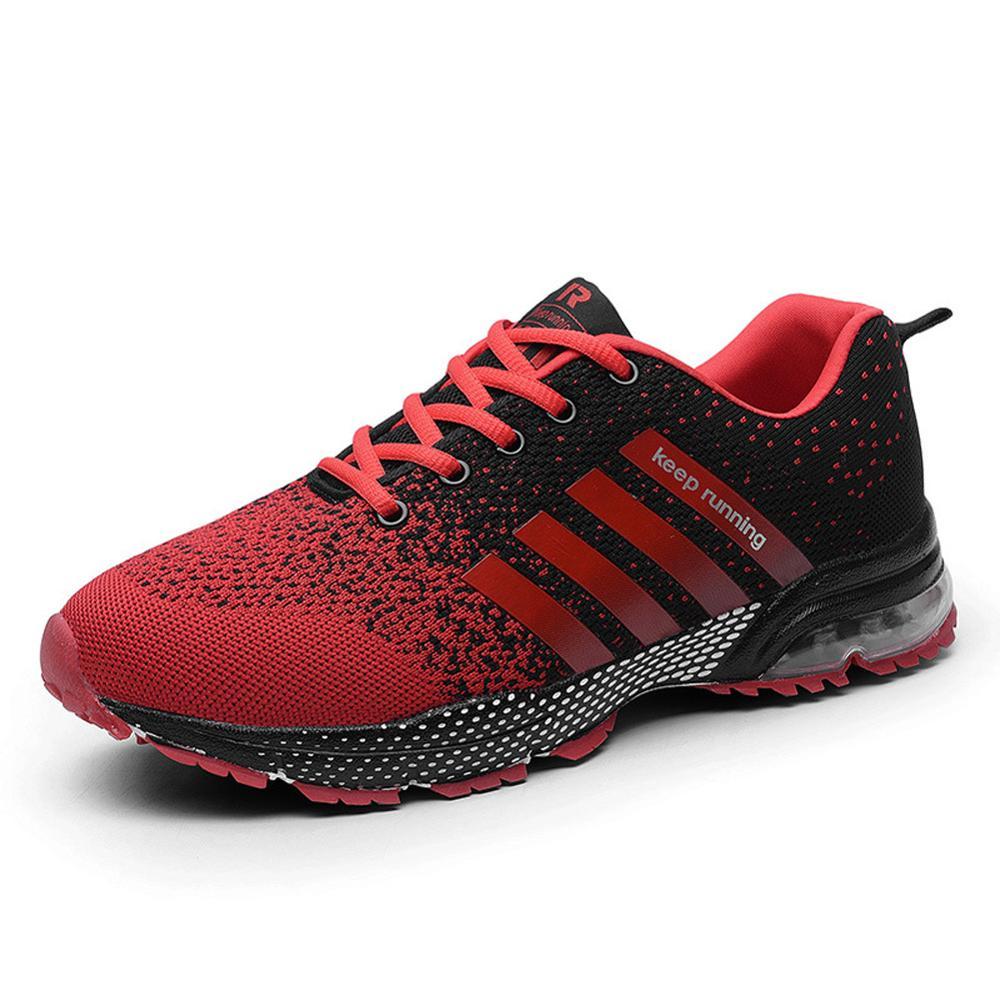 Сетчатые дышащие кроссовки для бега на шнуровке, повседневная спортивная обувь для бега, обувь унисекс, удобная уличная легкая обувь WJ037
