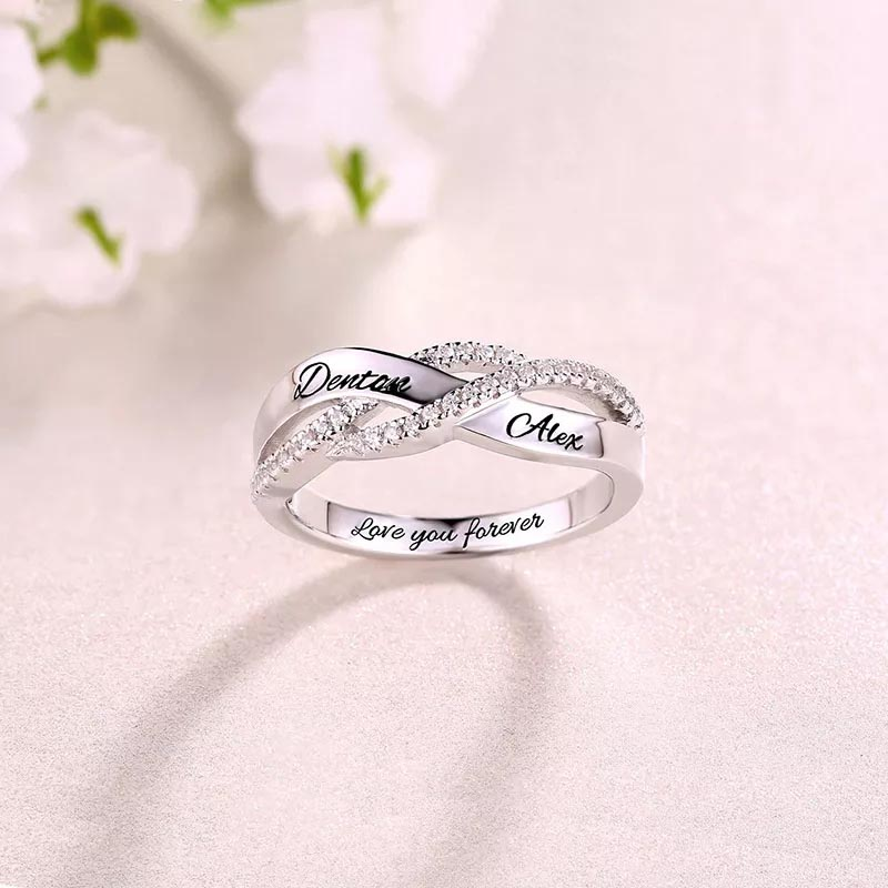 New 925 Sterling Silver Custom engraved Name birthstone finger Rings for Women Personalized 2019 Wedding Jewelry