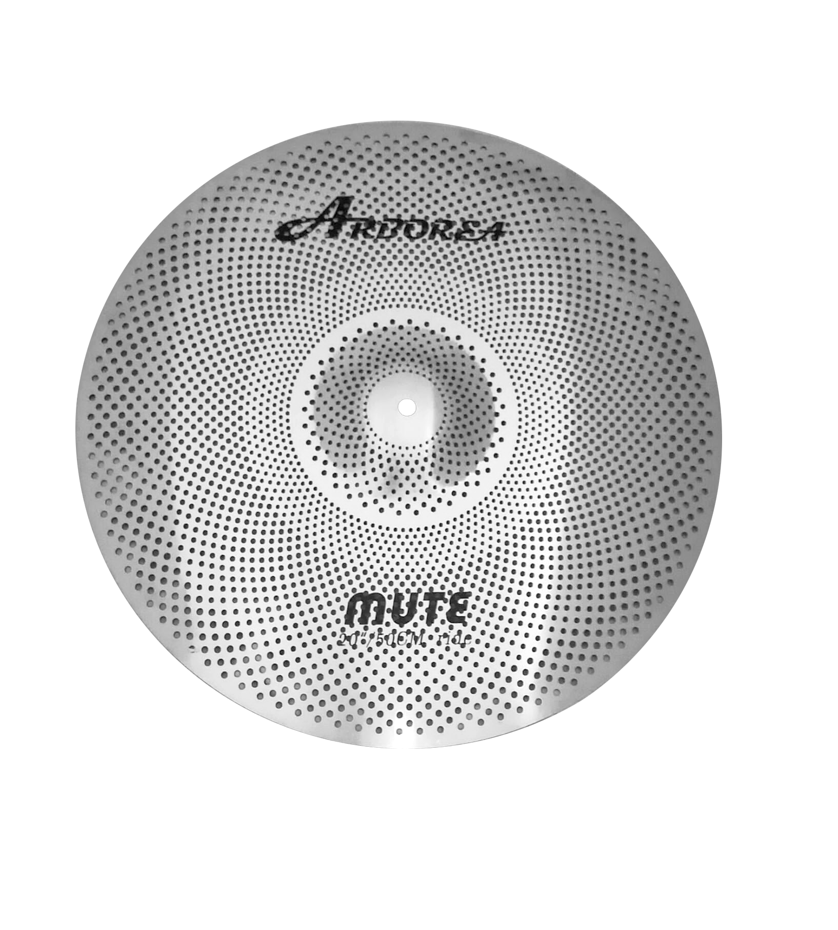 """Arborea Plain Quality Silver Mute Ride 20"""" Cymbal Easy To Repair"""