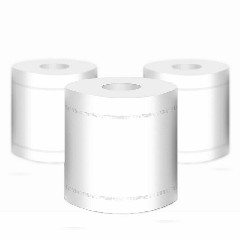 10 Rolls White Toilet Paper Strong Absorbent Bathroom Tissue 4 Ply Home Comfortable Toilet Tissue