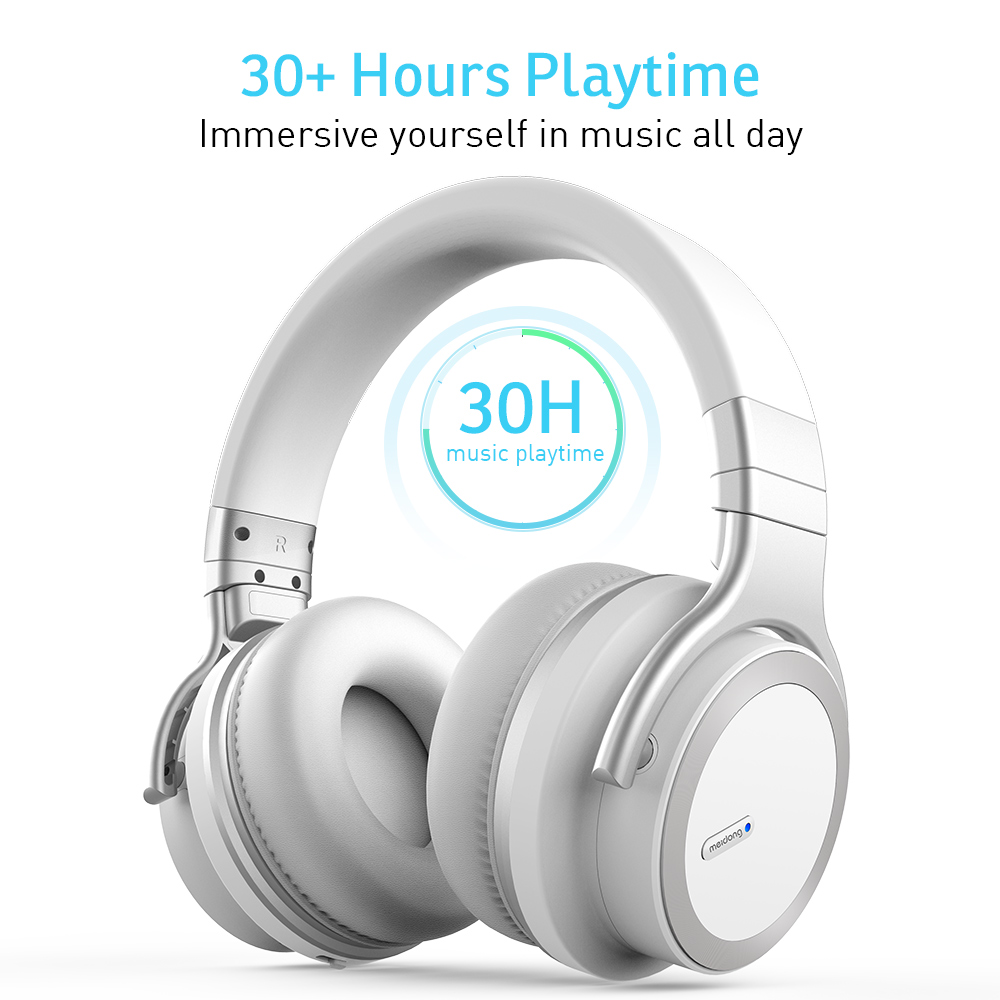Meidong E7MDPRO беспроводные bluetooth наушники с шумоподавлением и микрофоном для телефона 30H гарнитура для прослушивания музыки