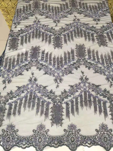 Image 5 - Robe lourde en broderies, perles, maille française, dentelle africaine, dentelle nigériane, tissu, robe de soirée, jupe, robe de soirée, tissu