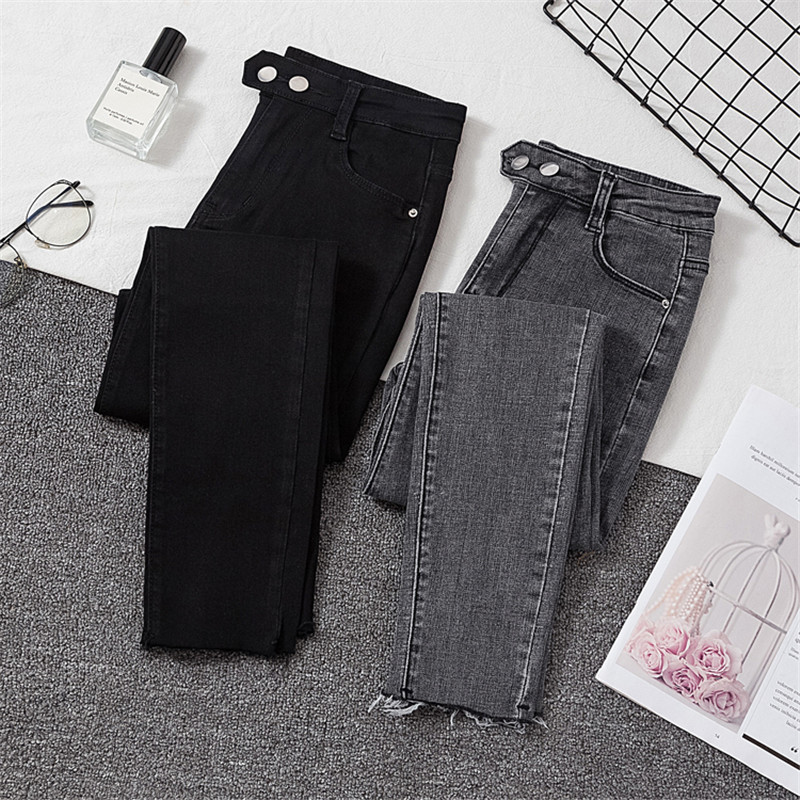 The New 2020Jeans Female Denim Pants Black Womens Jeans Woman Donna Stretch Bottoms Feminino Skinny Pants For Women Trousers