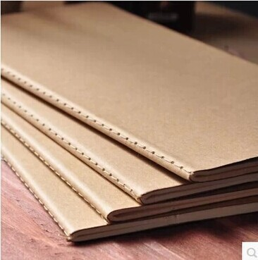 Notebook Sketchbook Notebook For School Supplies 21*11cm 30 Sheets Kraft Paper Cover Notebook Blank Page