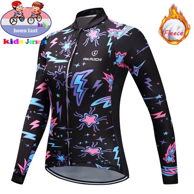 2020 pro conjunto de roupa de ciclismo infantil, roupas de ciclismo de lã térmica para inverno bicicleta mtb bicicleta menina 2