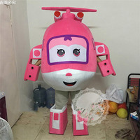 Super Wings Mascot Costume Cartoon Plane Airplane Dizzy Mira Jerome Mascot Costume Festival Fancy Cosplay Dress Adult Outfit