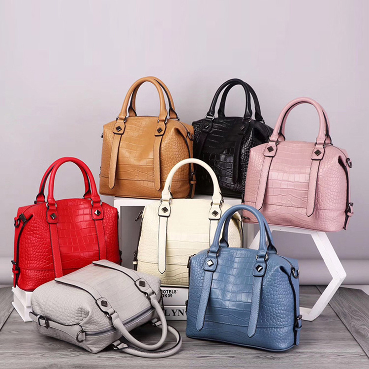 2019 New Style Bag Women's Genuine Leather Large Bag Versitile Fashion Casual Shoulder Handbag Large Capacity Shoulder Tote Bag