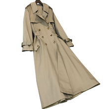 British Style Woman Classic Double Breasted Trench Coat Waterproof Raincoat Busi