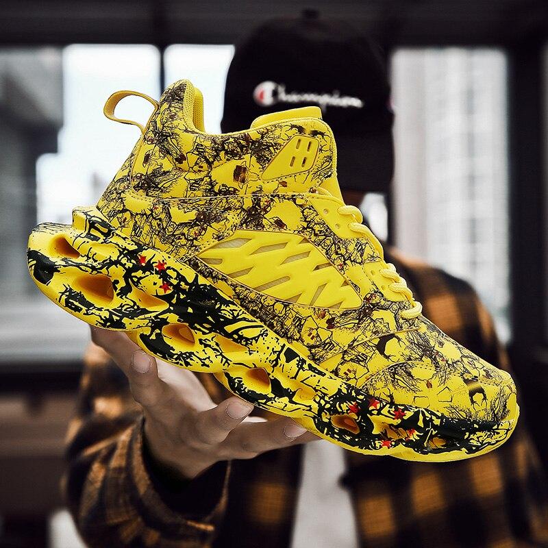 Мужская повседневная обувь; модные трендовые кроссовки для мужчин; высокие баскетбольные кроссовки на шнуровке; Вулканизированная теннисная обувь; Masculino; большой размер 47 on AliExpress