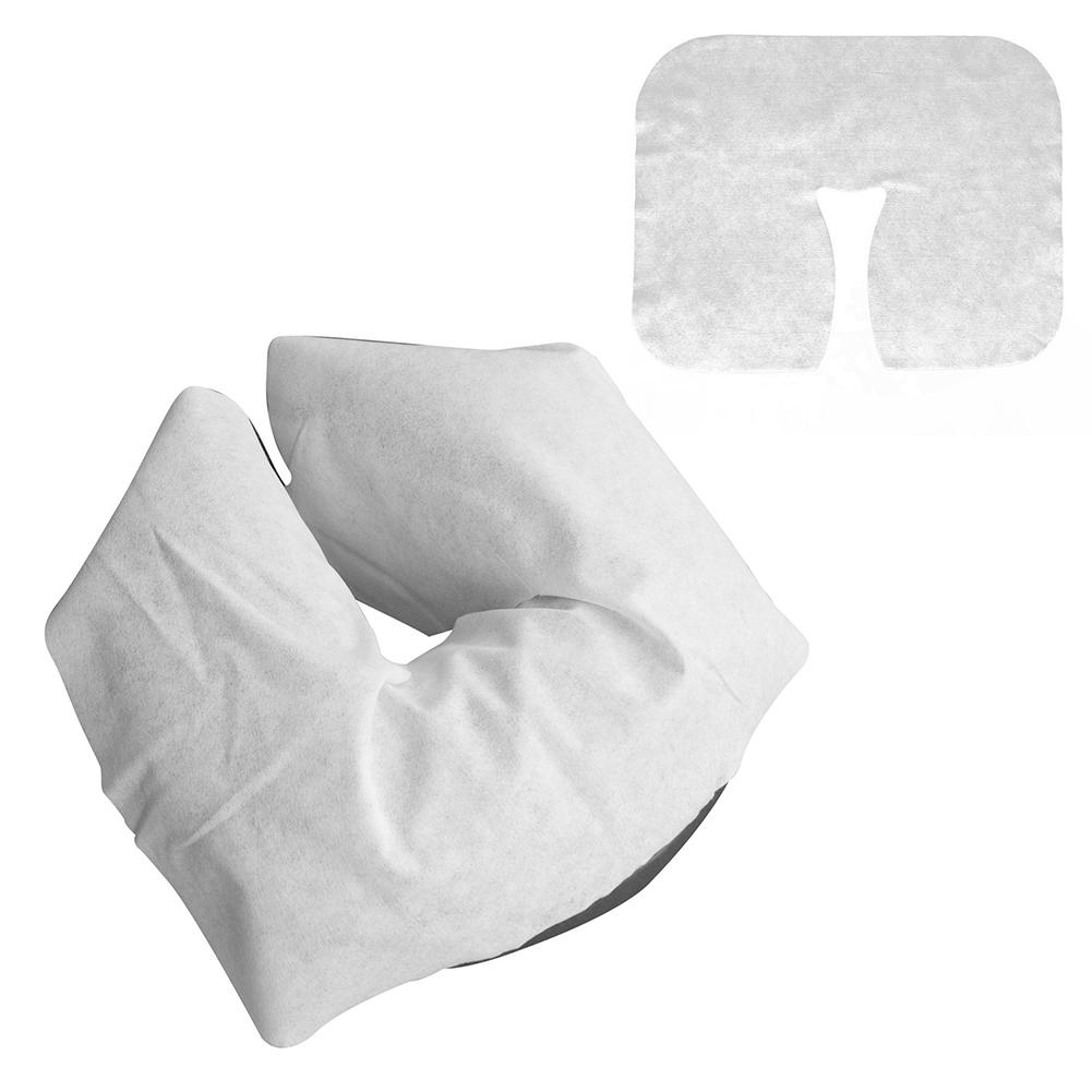 100Pcs Disposable Face Cradle Covers Soft Headrest Pads For Massage Table Chair It Stores Easily In Table And Chair Carry Cases.