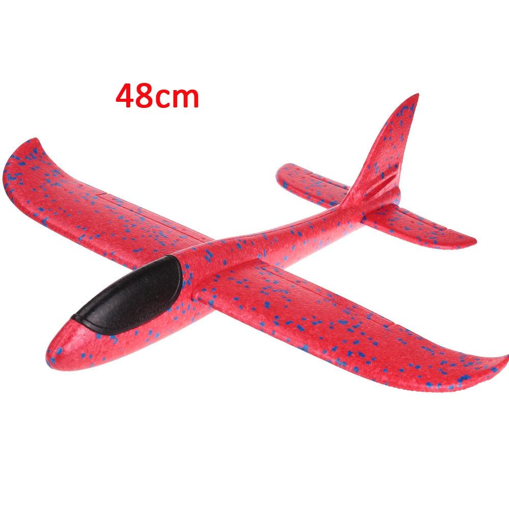 Детские игрушки «сделай сам» самолет из пеноматериала ручной бросок самолет Летающий планер самолет вертолеты летающие модели самолетов самолет игрушка для детей игры на открытом воздухе - Цвет: 48cm-Red