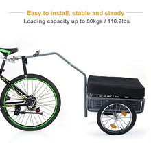 Bicycle Trailer Dog Cat Pet Stroller Foldable Bicycle Cargo Trailer Wagon Luggage Shopping Cart Carrier Bike Trailer(China)