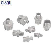 Stainless Steel Hex Nipple Fitting Coupler Adapter 1/8 1/4 3/8 1/2 3/4 1 BSPT Male to Male Thread For Water Oil Gas Connector
