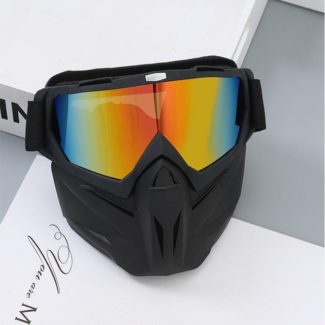 Cycling Motorcycle Helmet Dust Face Mask Shield Respirator Motocross Goggle Glasses Safety Protective Eyewear Bike Bicycle Tools 4