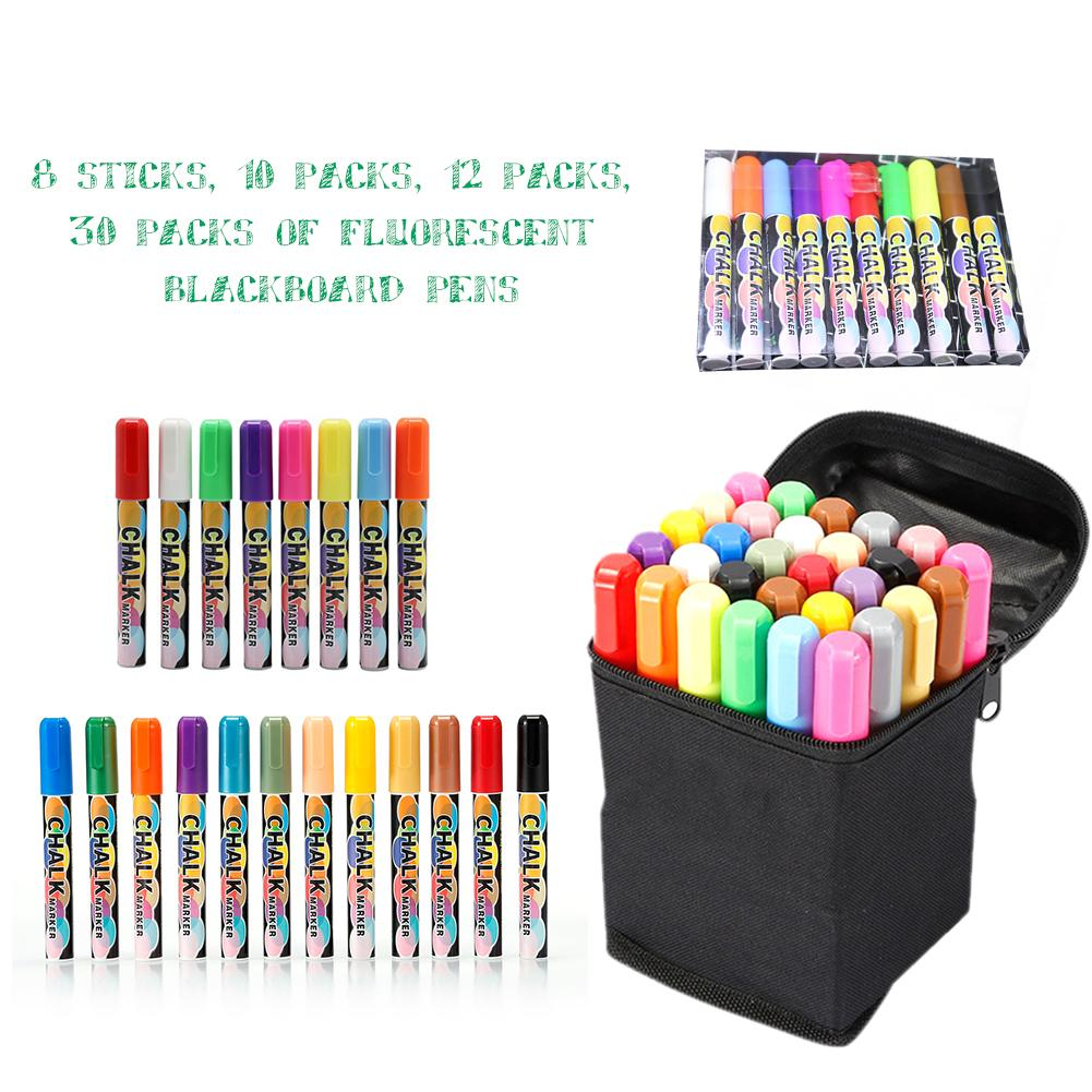 Liquid Chalk Marker Blackboard Erasable Liquid Chalk Classic Highlighter Dust-free And Non-toxic Chalk Ink Pen With Pen Caps