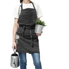 Kitchen Aprons Cafe Korean Smock Professiona Chef Baking Adjustable Adult Unisex Woman