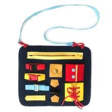 Обучайте одевать сумку Красочные базовые Игрушки для развития