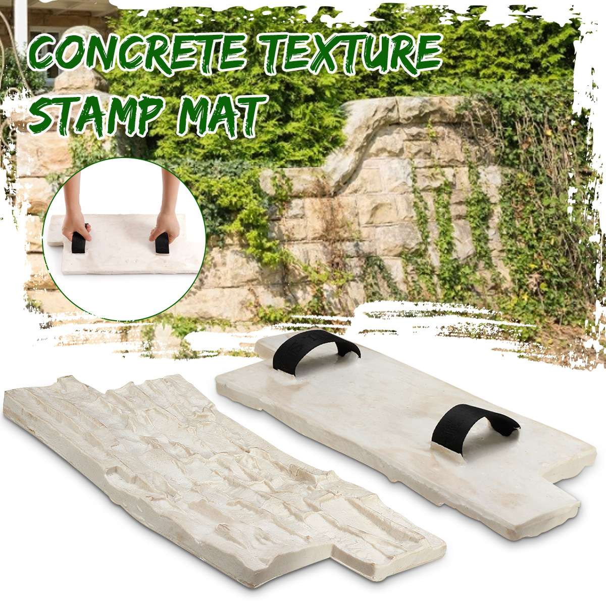 New 2 Size Polyurethane Molds For Concrete Garden House Decor Texture Wall Floors Molds Cement Plaster Stamps Model Molds