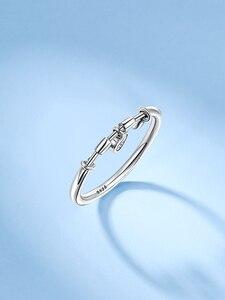 Женское кольцо из серебра 925 пробы, с фианитом|Кольца|   | АлиЭкспресс