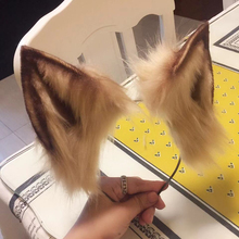 New animal Cosplay Carnaval Gothic Lolita Acessories cat Fox Ear Hair Hoop Headwear For Girl Women Kids Hand Work