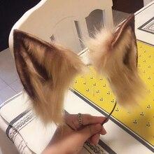 جديد الحيوان تأثيري carnavy القوطية لوليتا زينة القط الثعلب الأذن الشعر هوب أغطية الرأس لفتاة النساء الاطفال اليد العمل