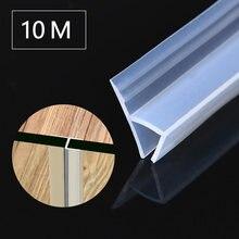 10m h forma de porta de vidro tiras vedação da janela de borracha de silicone para parar vazamentos chuveiro flexível à prova de intempéries selo para banheiro