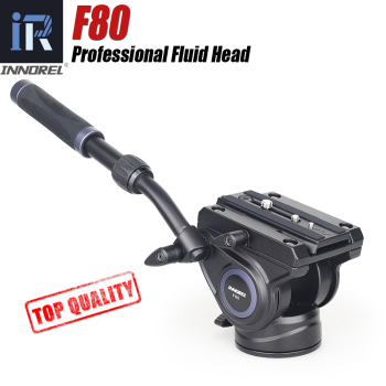 F80 Video Fluid Head adjustable Handgrip Panoramic Hydraulic Camera Tripod Monopod Head for Slider Manfrotto Quick Release Plate цена 2017