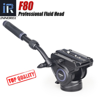 F80 Video Fluid Head adjustable Handgrip Panoramic Hydraulic Camera Tripod Monopod Head for Slider Manfrotto Quick Release Plate