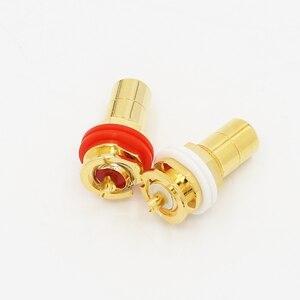 Image 3 - 24K Gold Plated RCA Jack RCA Terminal Sockets Gold Plated jack 4pcs