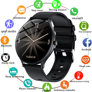 LIGE New Men Women Smart Watch Heart Rate Blood Pressure Monitoring Fitness Tracker Sports Women Smart Watch Men for Android IOS women smart watch sports fitness tracker blood pressure heart rate monitoring waterproof pedometer men smart watch ios android