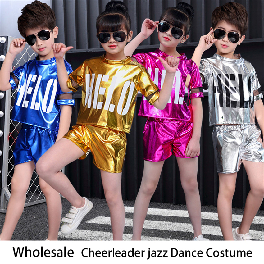 Teenagers Children Cheerleader Ballroom School Uniform Basketball Dance Costume Jazz Team Wear Top Pants Suit Boy Girl Gymnastic