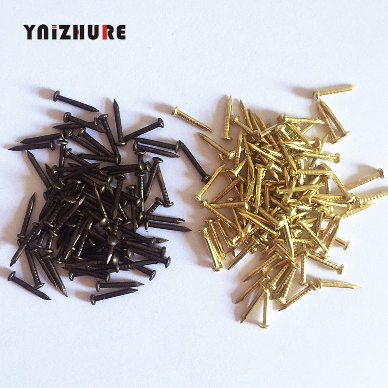 300PCS 6mm 8mm 10mm Round Furniture drum nail Fit Hinges Flat Round Head Phillips Cusp Fasteners Hardware gold bronze