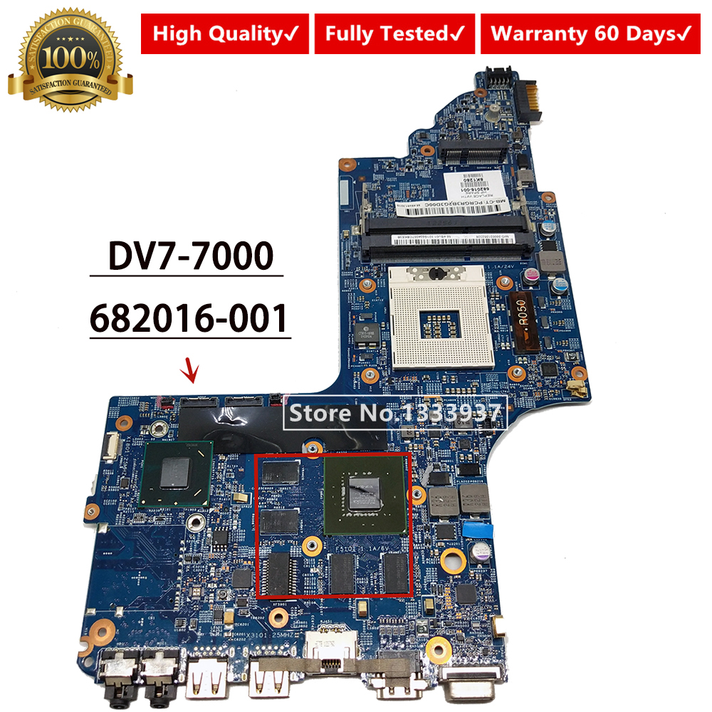 682016-001 682016-501 For HP DV7 DV7-7000 Laptop motherboard NOTEBOOK GT 630M HM77 11254-3 48.4ST10.031 MAINBOARD