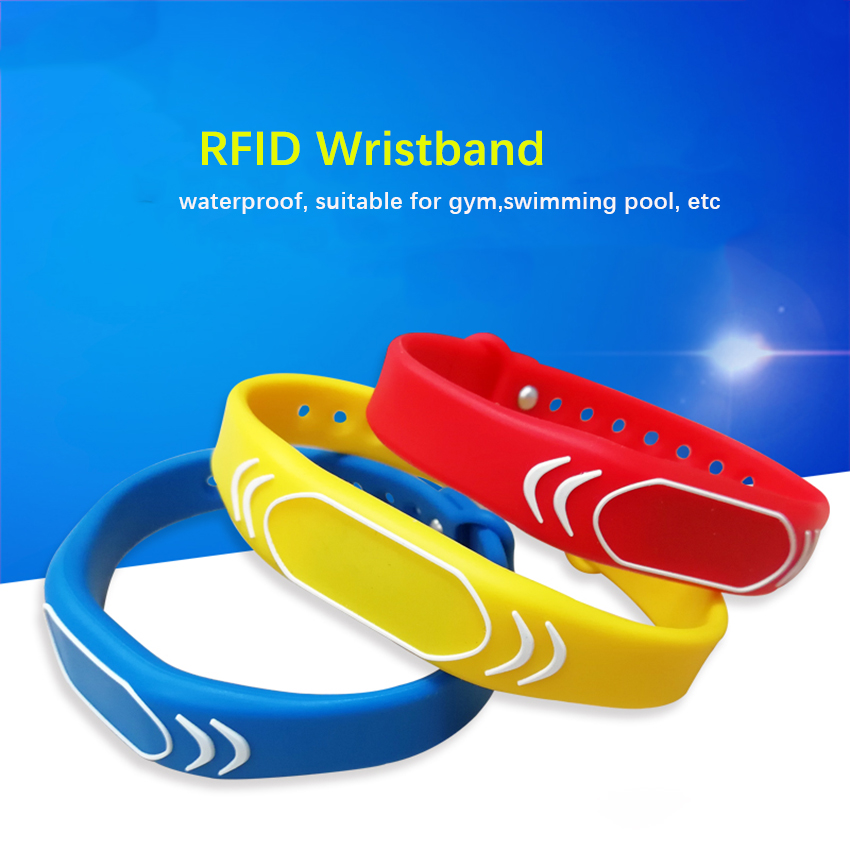 1PC 125khz EM4100 Read Only RFID Adjustable Smart Wristband, Access Control Card Wrist Band Bracelet Tag,Can Be Customized LOGO