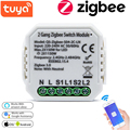 Tuya Zigbee Smart Switch Module No /With Neutral 220V-240V 2 Way Wireless Light Switch Compatible with Alexa Google Home DIY