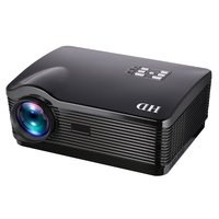 H1 HD Projector 3000ansi Lumens HDMI/USB/SD/DTV/AV/VGA Home Theater Zoom HD DVB T Digital TV Projector 5.8 Single LCD + LED
