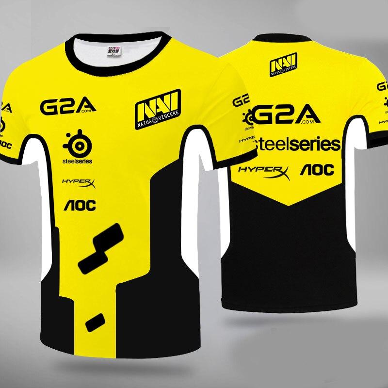 Ukraine Natus Vincere Team Uniform NAVI Jersey Customized ID Tshirt Fans T-shirt Men Women T Shirts Custom Tee Shirt Top Quality