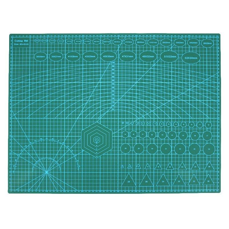 A2 ПВХ с двойной печатью самоисцеляющий коврик для резки ремесло Квилтинг, скрапбукинг доска 60x45 см Лоскутная Ткань бумажные инструменты для