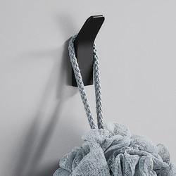 Punch-free robe ganchos preto gancho do banheiro para toalhas de parede decoração cabides cabides cabides cabides de roupas de alumínio