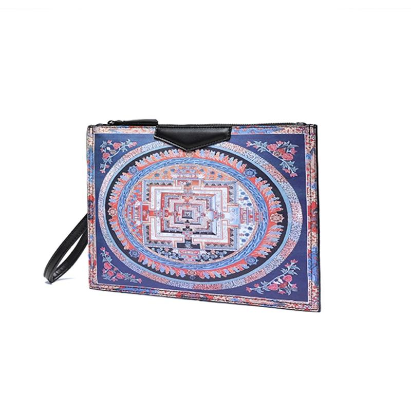 HIGHREAL Fashion Printing Women's Handbag Designer Flower Printed Ipad Bags for Women Shoulder Crossbody Envelope Bag Clutc