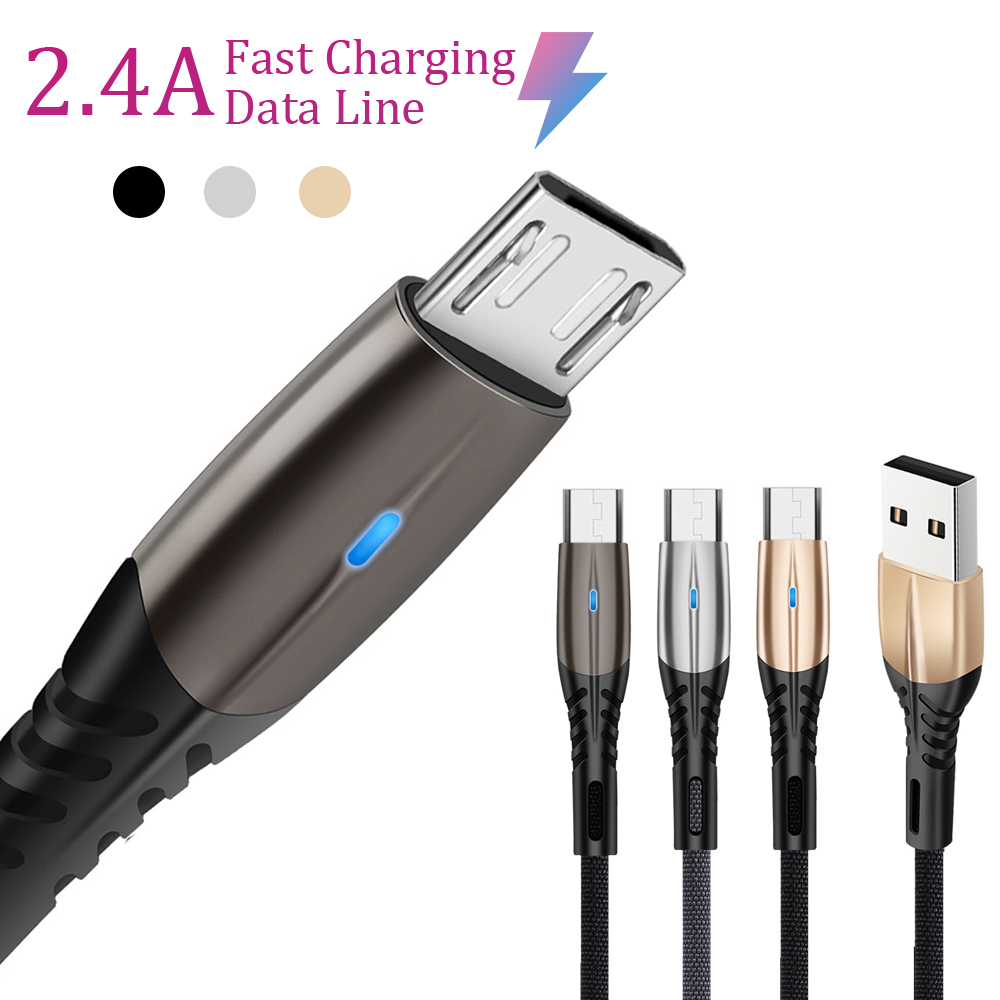 1M Micro USB Cable For <font><b>Samsung</b></font> Galaxy S7 Fast Charge Micro USB Mobile Phone Quick Charging Wire USB C Cable for Huawei P10 Lite image