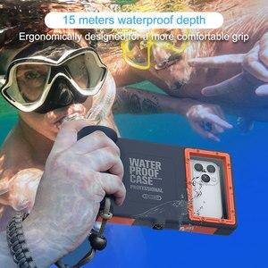 Image 2 - מקצועי צלילה מקרה עבור iPhone 11 פרו מקסימום X XR XS מקסימום מקרה 15 מטרים עמיד למים עומק כיסוי עבור iPhone 7 8 בתוספת Coque מקרה