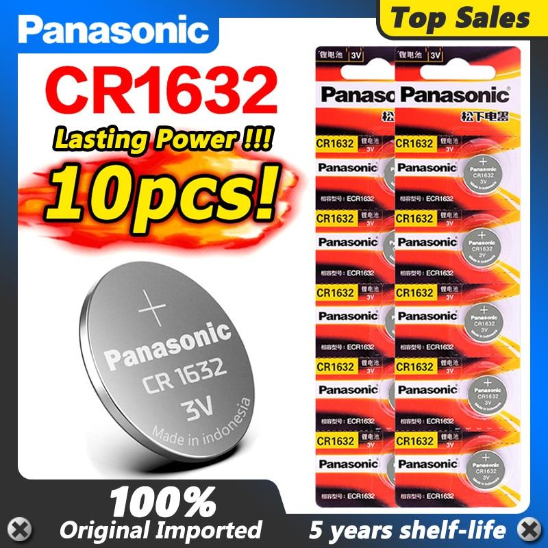 10 шт. Panasonic литиевая батарея Кнопка Монета CR1632 DL1632 для часов пульт дистанционного управления ключи для автомобиля ECR1632 LM1632 литиевая батарея