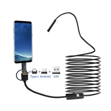 3-in-1 Endoscope Camera 8mm 720P USB Mini IP67 Waterproof 8 LED Endoscopy For Windows Macbook PC Android