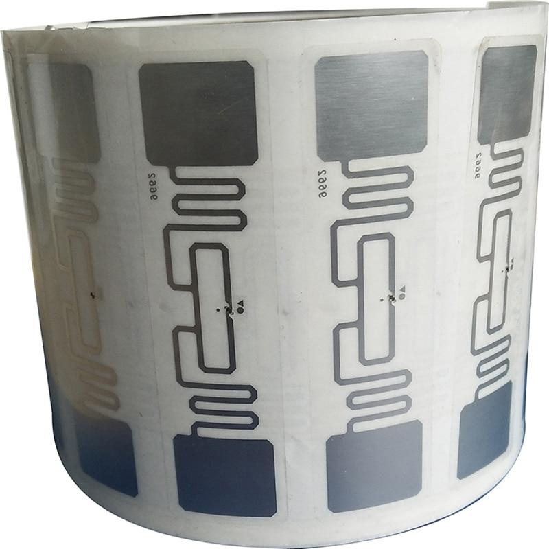 100pcs UHF 860-960MHz UHF RFID Tag AZ 9662 H3 Chip ISO 18000-6C Passive RFID UHF Sticker Label