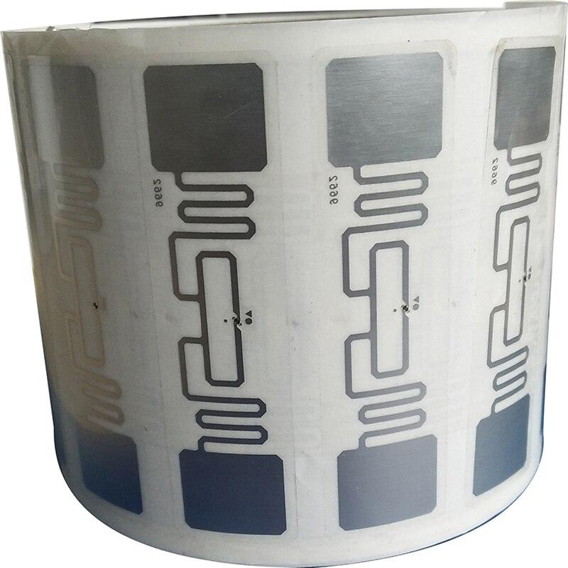 10pcs UHF 860-960MHz UHF RFID Tag AZ 9662 H3 Chip ISO 18000-6C Passive RFID UHF Sticker Label