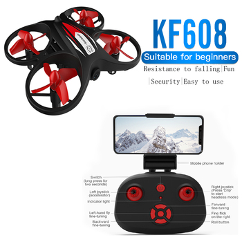 цена на KF608 Mini Drone 720p HD With  Camera Wifi Aerial Stabilized Altitude 3D Flip Headless Mode RC Quadcopter Profesional Drones Toy